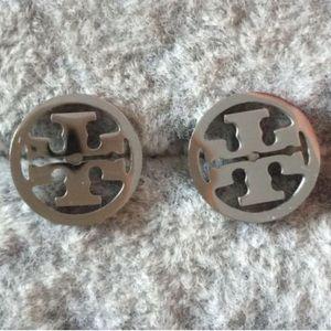 New Silver sterling silver double T stud earrings